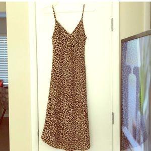 NWT Leopard Midi Dress